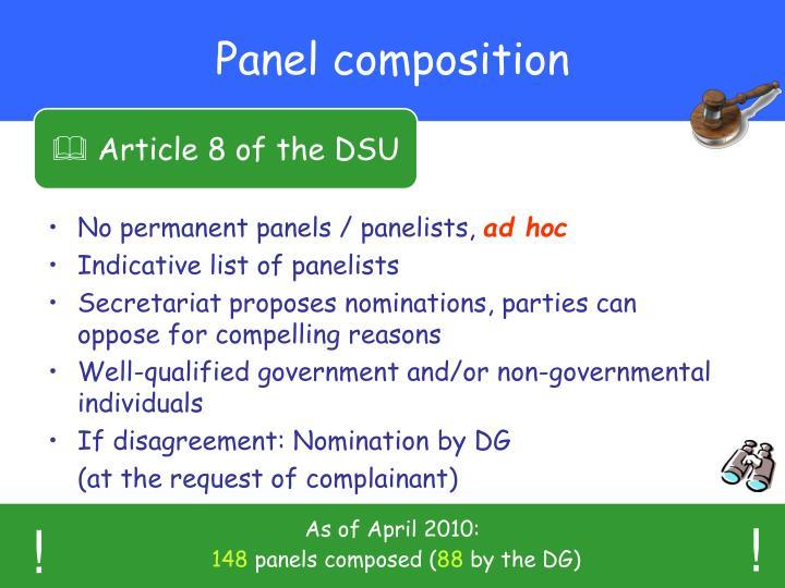 Panel composition