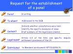 request for the establishment of a panel