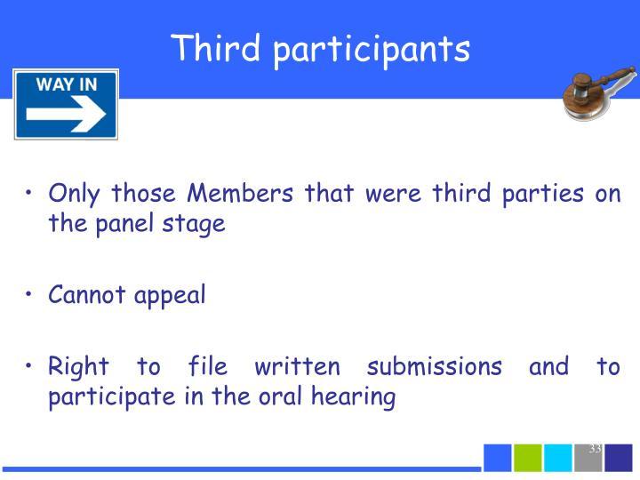 Third participants
