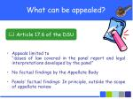 what can be appealed