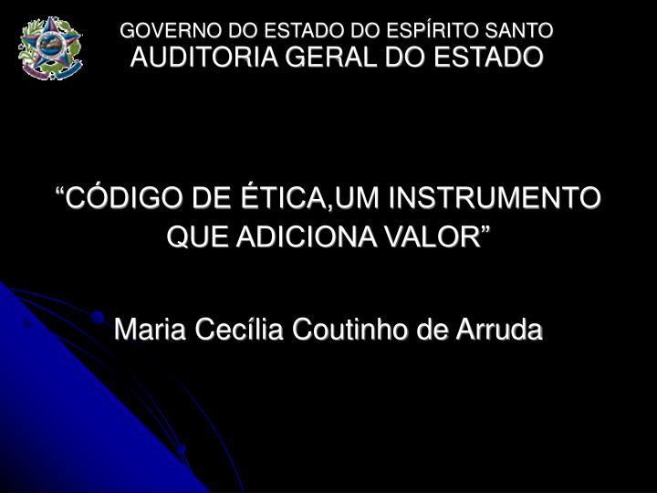 CDIGO DE TICA,UM INSTRUMENTO QUE ADICIONA VALOR