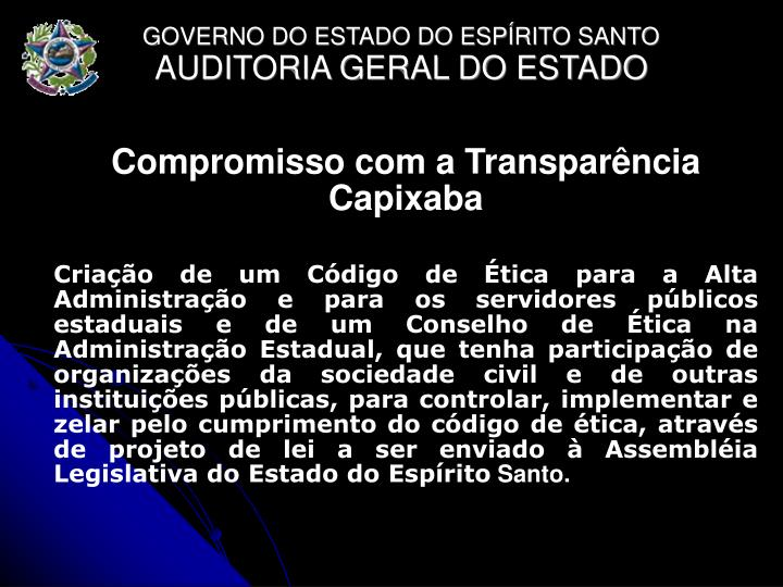 Compromisso com a Transparência Capixaba