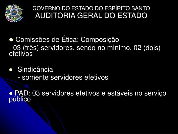 Comissões de Ética: Composição