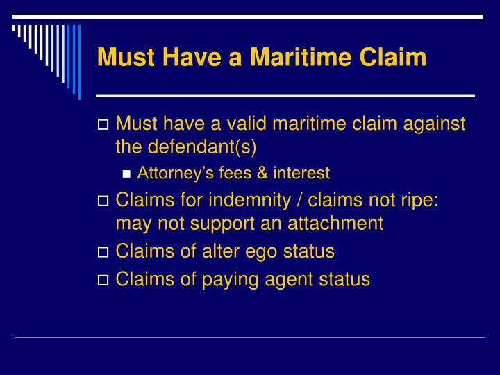 Must Have a Maritime Claim