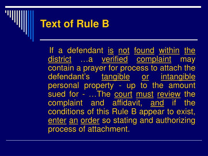 Text of Rule B