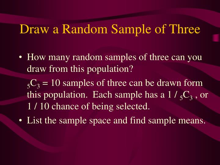 Draw a Random Sample of Three
