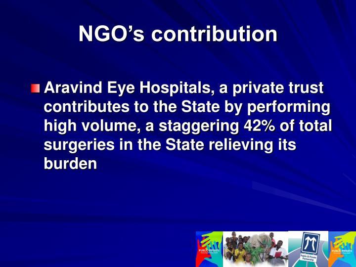 NGO's contribution