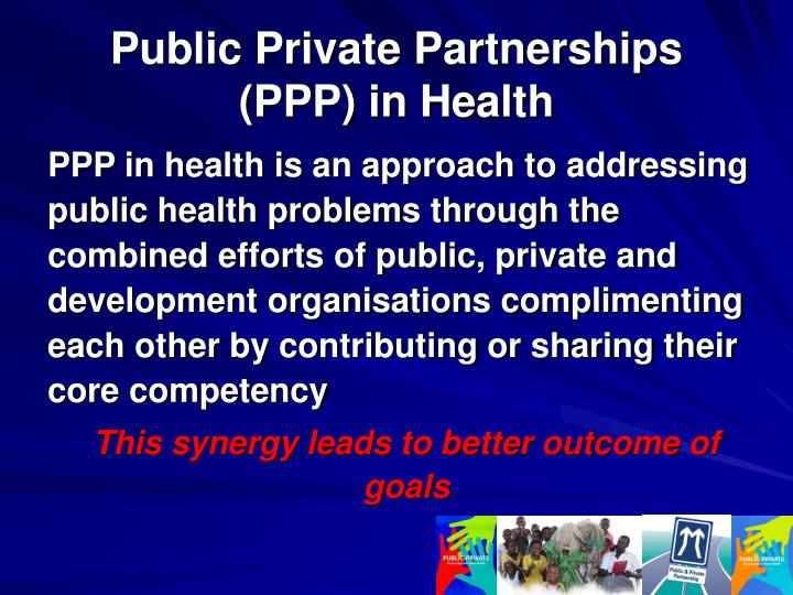 Public private partnerships ppp in health