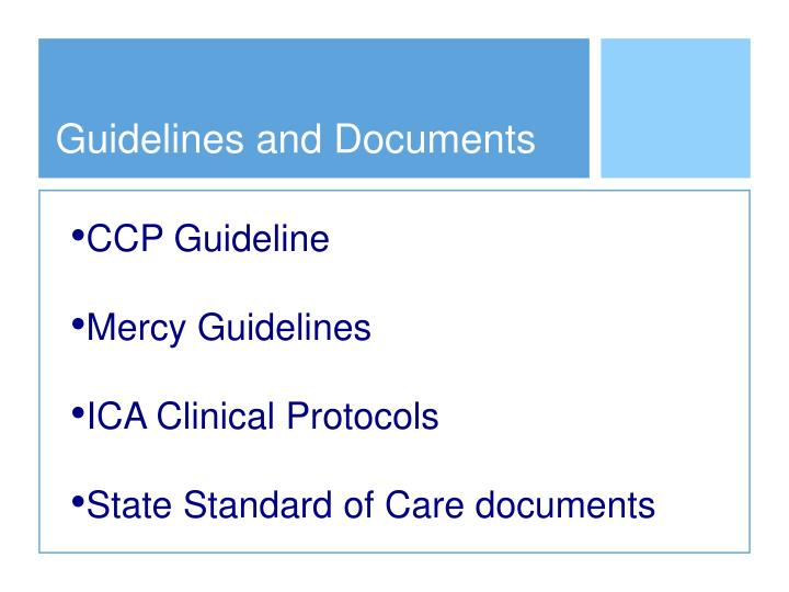 Guidelines and Documents