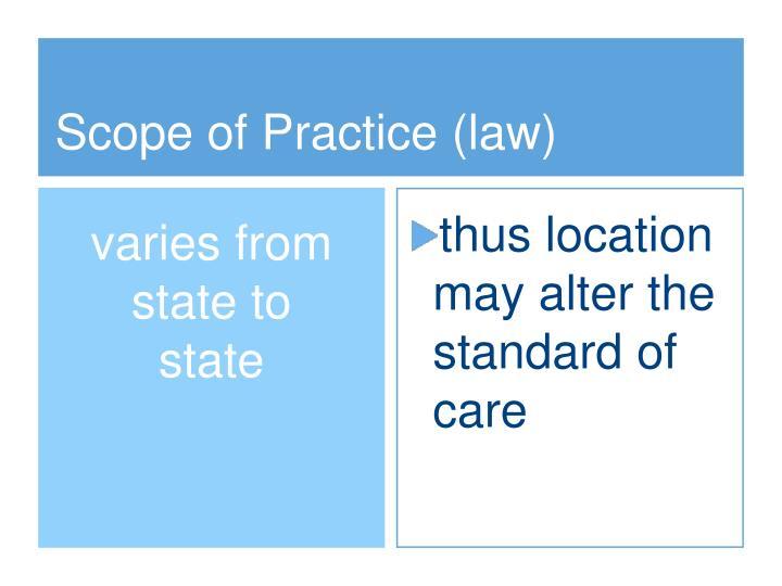 Scope of Practice (law)