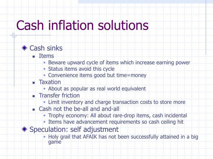 Cash inflation solutions