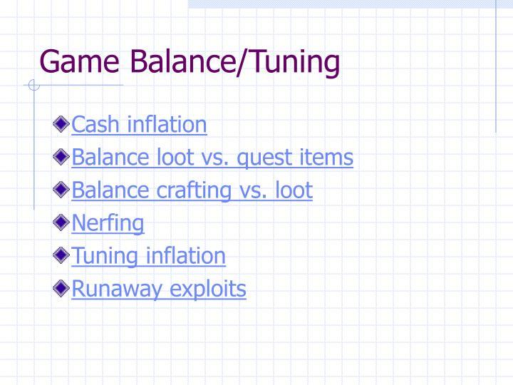 Game Balance/Tuning