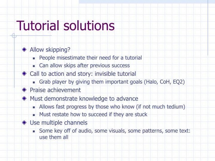 Tutorial solutions