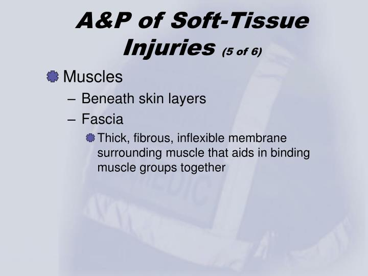 A&P of Soft-Tissue Injuries