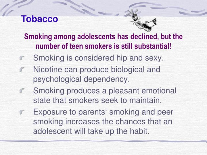 tobacco smoking among teenagers issues Teenage smokers suffer preventing tobacco use among young mowery p, samet jm, et al cigarette smoking and self-reported health problems among us.