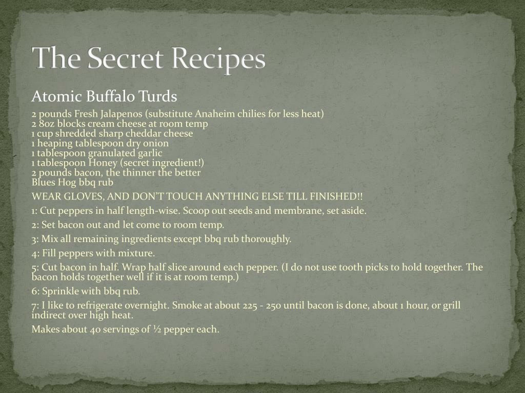 The Secret Recipes