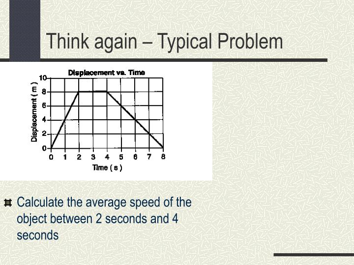 Calculate the average speed of the object between 2 seconds and 4 seconds