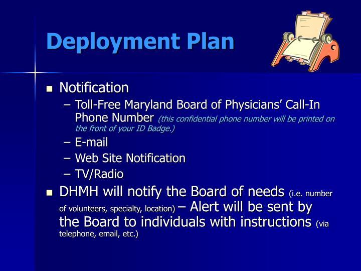 Deployment Plan