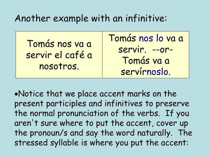 Another example with an infinitive: