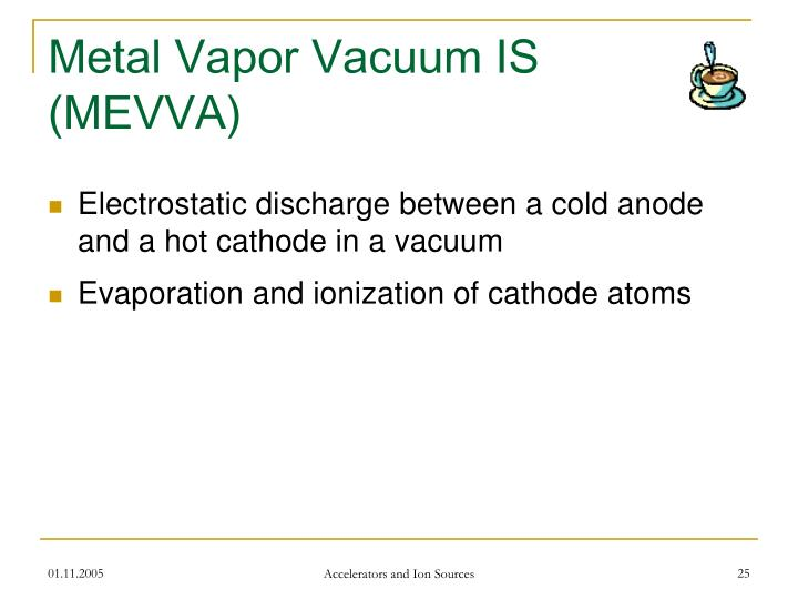 Metal Vapor Vacuum IS (MEVVA)