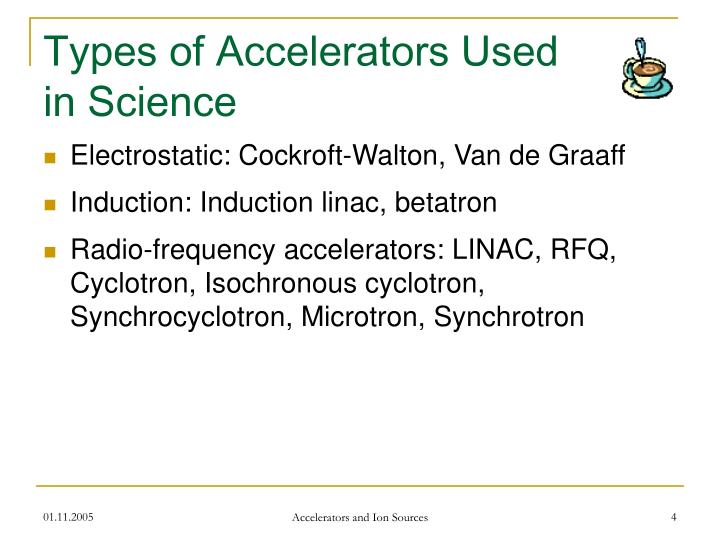 Types of Accelerators Used in Science