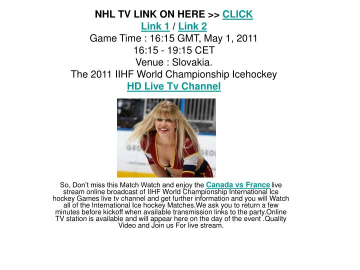 NHL TV LINK ON HERE >>