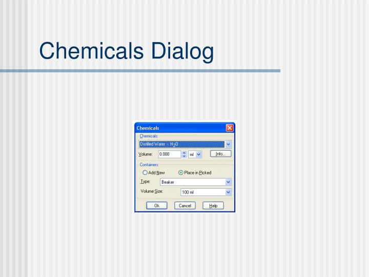 Chemicals Dialog