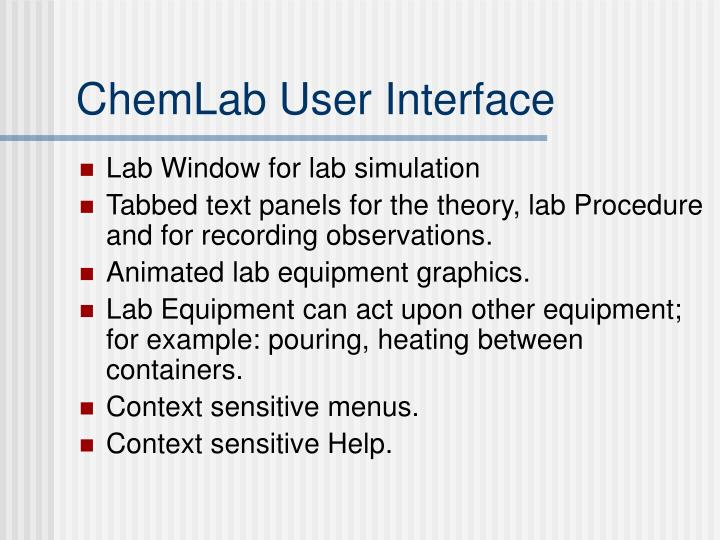 ChemLab User Interface