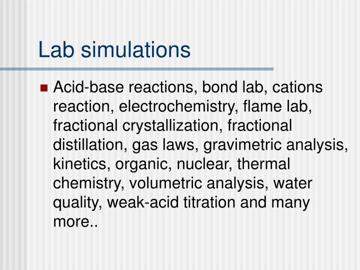 Lab simulations