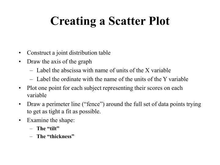 Creating a Scatter Plot