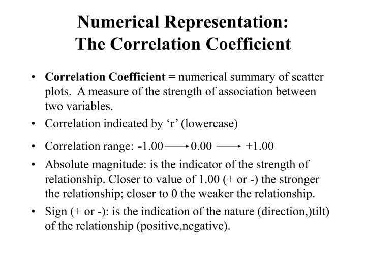 Numerical Representation: