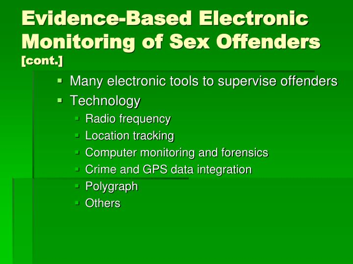 Evidence-Based Electronic Monitoring of Sex Offenders