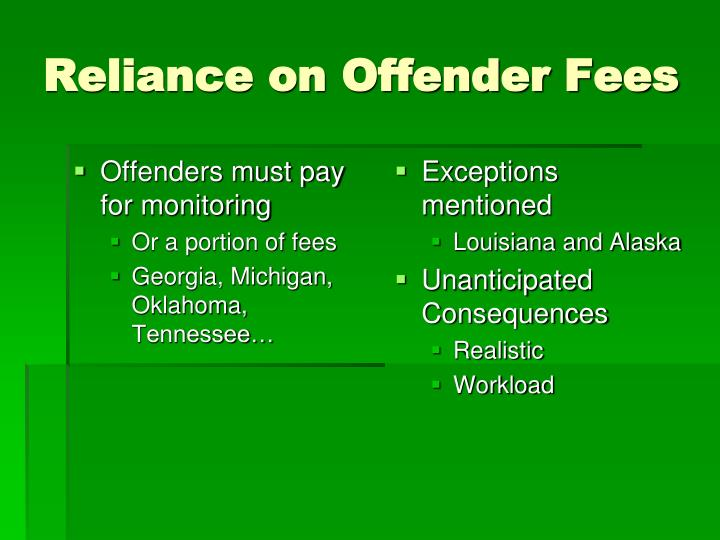 Offenders must pay for monitoring