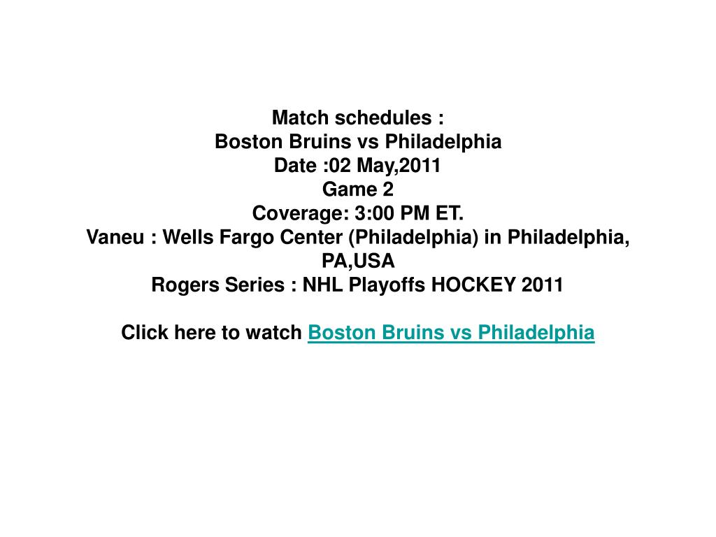 Match schedules :