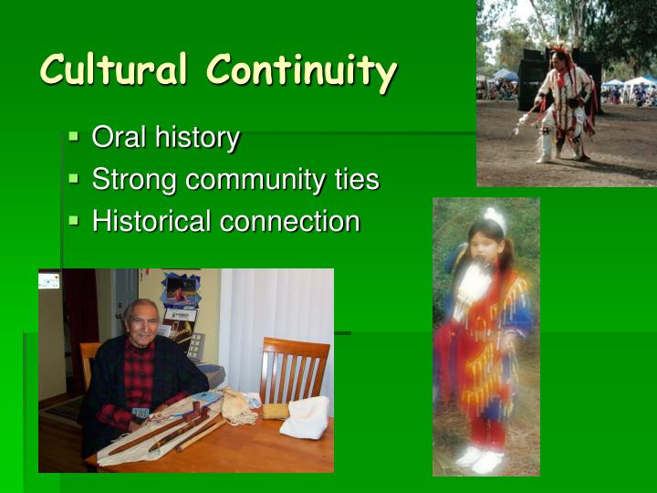 Cultural Continuity