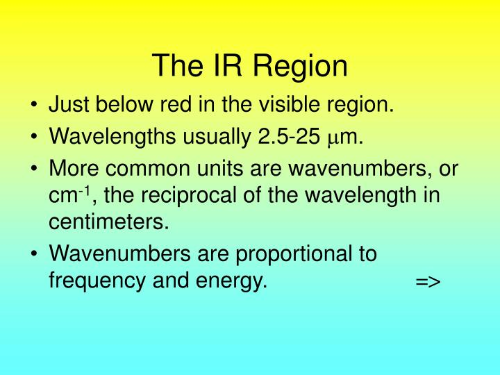 The IR Region
