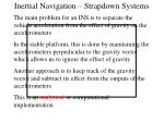 inertial navigation strapdown systems