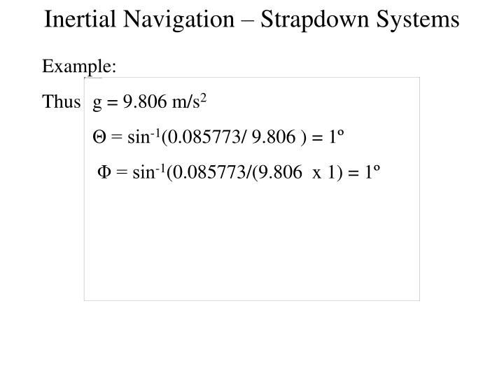 Inertial Navigation – Strapdown Systems