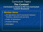 curriculum topics the content curriculum is based on nj core curriculum content standards