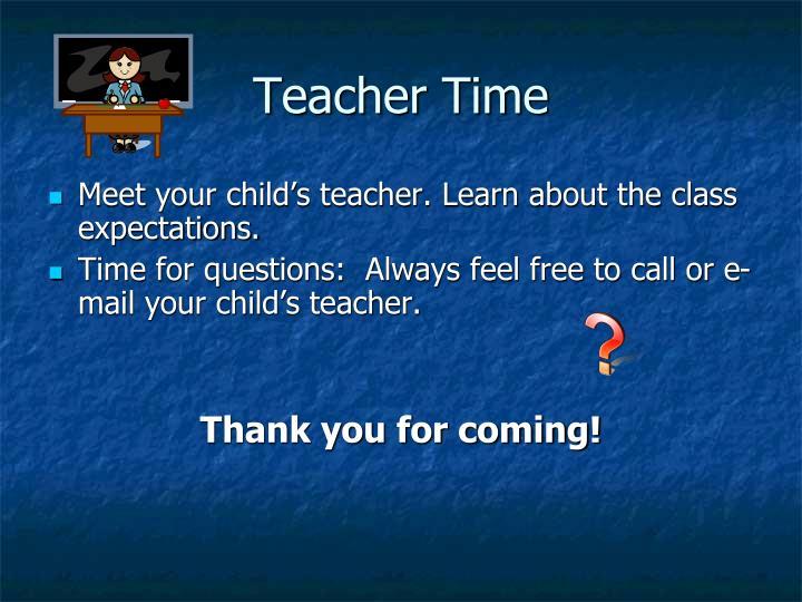 Teacher Time