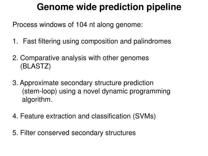 Genome wide prediction pipeline