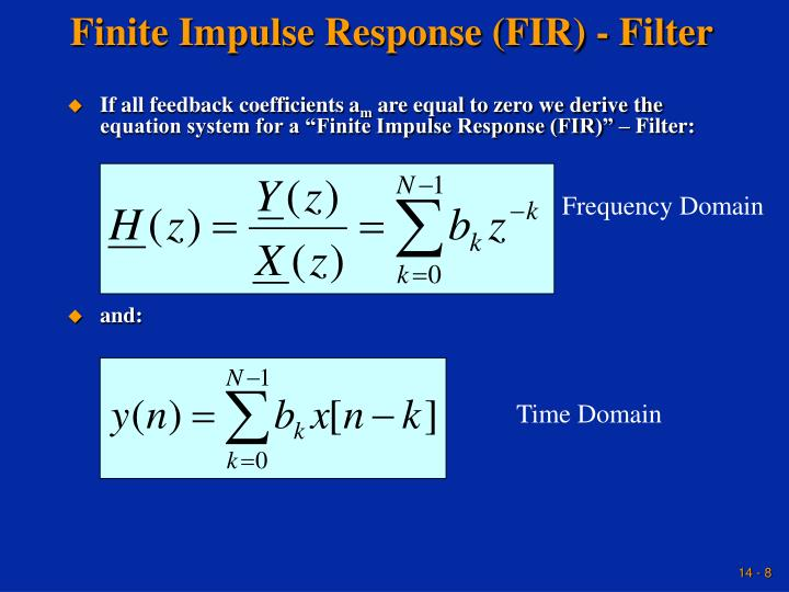 Finite Impulse Response (FIR) - Filter