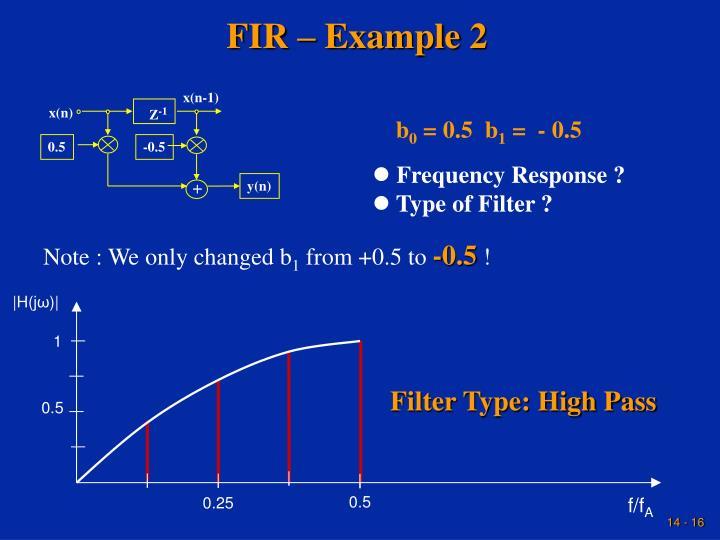 FIR – Example 2