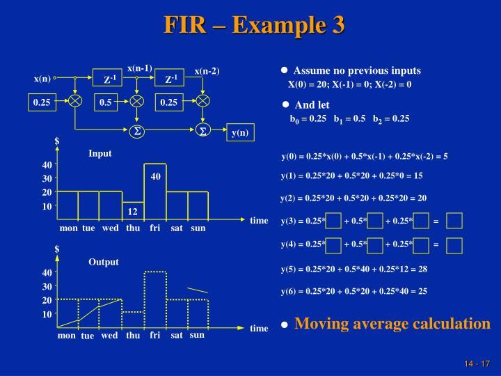 FIR – Example 3