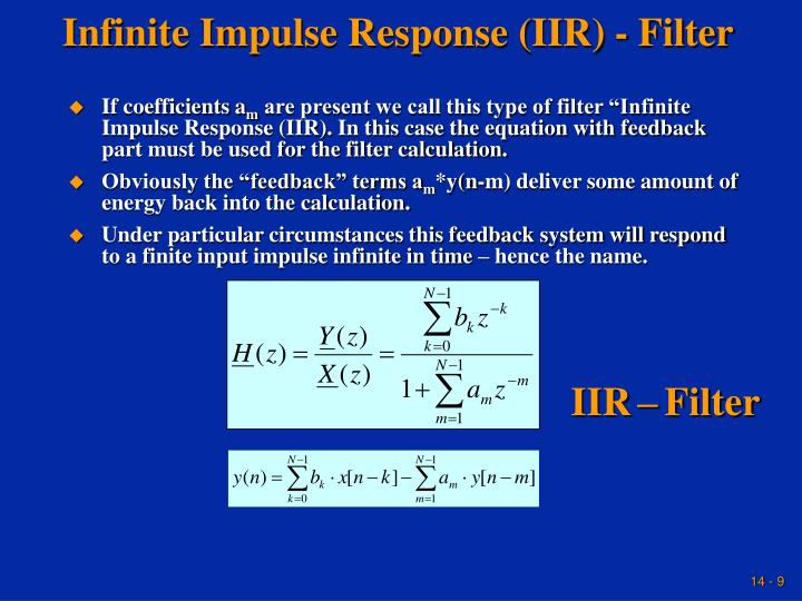 Infinite Impulse Response (IIR) - Filter