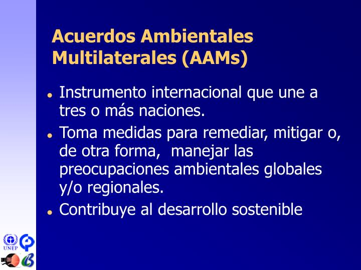 Acuerdos Ambientales Multilaterales (