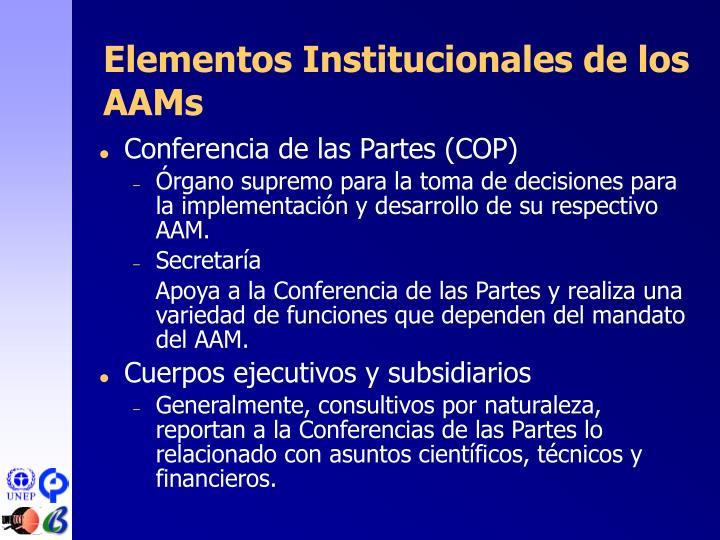 Elementos Institucionales de los A