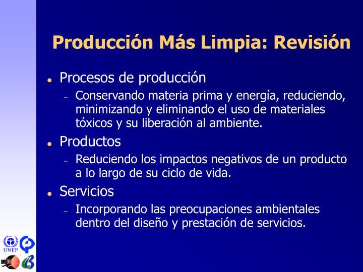Producción Más Limpia: Revisión