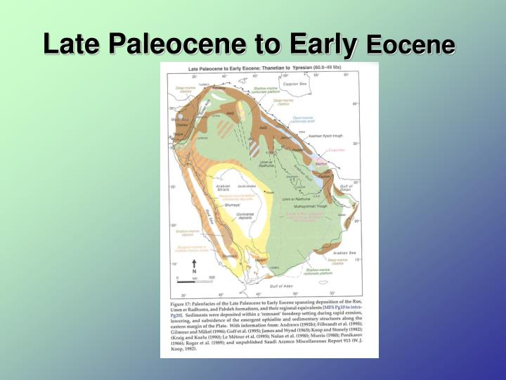Late Paleocene to Early