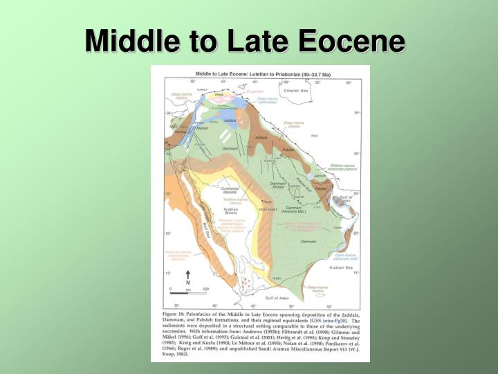 Middle to Late Eocene